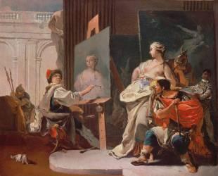 Alexandre et Campaspe dans l'atelier d'Apelle (Giambattista Tiepolo) - Muzeo.com
