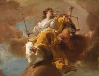 Allégorie de la Justice (Gaetano Gandolfi) - Muzeo.com