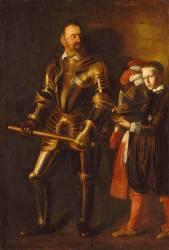 Alof de Wignacourt (1547-1622), Grand maître de l'ordre de Malte de 1601 à 1622, et son page (Le Caravage) - Muzeo.com