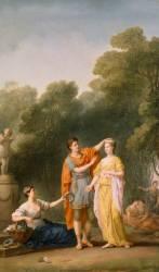 Amant couronnant sa maîtresse (Vien Joseph Marie l'Aîné) - Muzeo.com