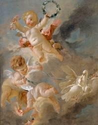 Amours dans les nuages (François Boucher) - Muzeo.com