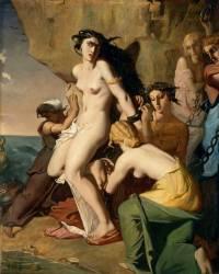 Andromède attachée au rocher par les Néréides (Chasseriau Théodore) - Muzeo.com