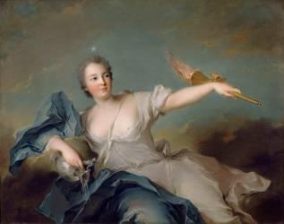 Anne Marie de Mailly-Nesle, représentée en point du jour en 1740 (Jean-Marc Nattier) - Muzeo.com