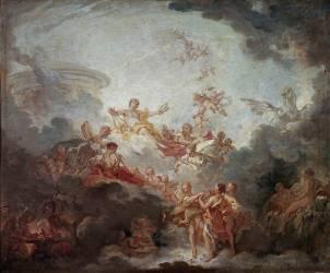 Apollon couronnant les arts (François Boucher) - Muzeo.com