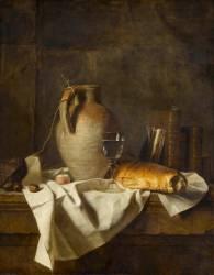 Apprêt d'un déjeuner rustique (Delaporte Henri Horace Roland) - Muzeo.com