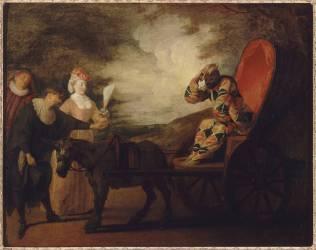 Arlequin empereur dans la Lune (Watteau Antoine) - Muzeo.com