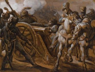 Artillerie de la Garde en action (Géricault Théodore) - Muzeo.com
