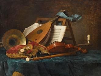 Attributs de la musique (Anne Vallayer-Coster) - Muzeo.com