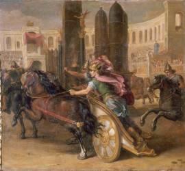 Auguste président aux jeux du cirque à Rome (René Antoine Houasse) - Muzeo.com
