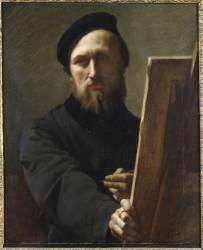 Autoportrait au chevalet (Flandrin Hippolyte) - Muzeo.com