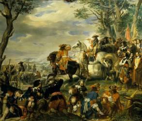 Bataille de La Marsaille remportée par le maréchal de Catinat, le 4 octobre 1693 (Eugène Devéria) - Muzeo.com