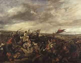 Bataille de Poitiers (19 Septembre 1356) (Eugène Delacroix) - Muzeo.com