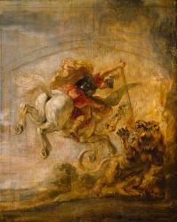 Bellérophon sur Pégase transperce la Chimère (Rubens Pierre Paul) - Muzeo.com