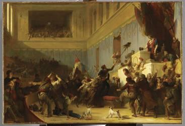 Boissy d'Anglas saluant la tête du député Ferraud (Alexandre-Evariste Fragonard ) - Muzeo.com