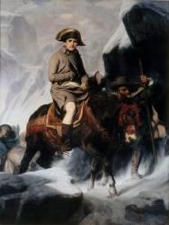 Bonaparte franchissant les Alpes (Delaroche Paul) - Muzeo.com