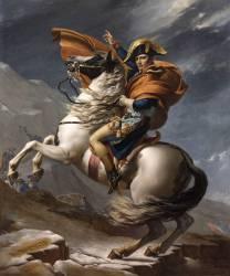 Bonaparte, Premier consul, franchissant les Alpes, au mont Saint-Bernard, le 20 mai 1800 (David Jacques Louis) - Muzeo.com