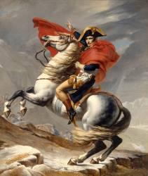 Bonaparte, Premier consul, franchissant le Grand Saint-Bernard, 20 mai 1800 (David Jacques Louis) - Muzeo.com