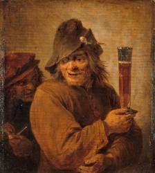 Buveur et fumeur (Teniers David le Jeune) - Muzeo.com