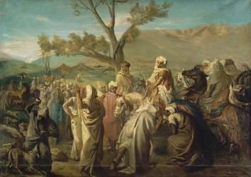 Caïd visitant un douar (Théodore Chasseriau) - Muzeo.com