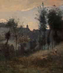 Canteleu près de Rouen (Jean-Baptiste Camille Corot) - Muzeo.com