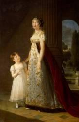 Caroline Bonaparte (1782-1839) et de sa fille ainée Laetitia Joséphine (Vigée-Le Brun Elisabeth...) - Muzeo.com
