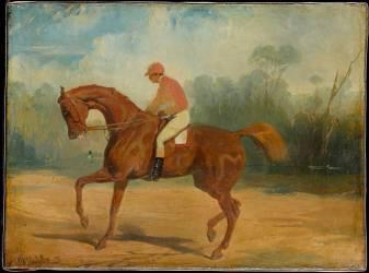 Cheval de course et son jockey (Alfred Dedreux) - Muzeo.com