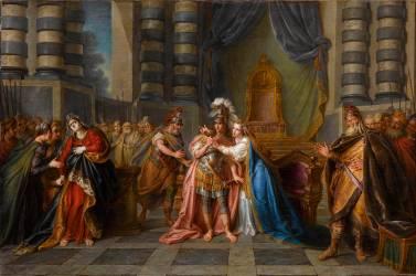 Cléopâtre avalant le poison (Charles-Antoine Coypel) - Muzeo.com
