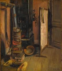 Coin d'atelier, le poêle (Eugène Delacroix) - Muzeo.com