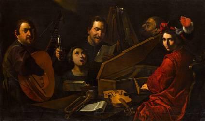 Concert de musiciens et de chanteurs (Paolini Pietro) - Muzeo.com