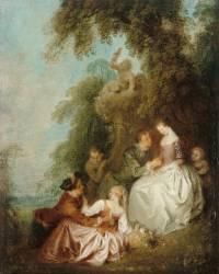 Conversation galante dans un parc (Jean-Baptiste Pater) - Muzeo.com
