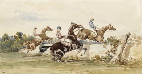Course de chevaux (Alfred Dedreux) - Muzeo.com