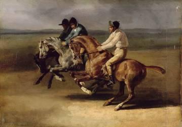Course de chevaux montés (Théodore Géricault) - Muzeo.com