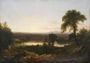 Crépuscule d'été, scène en Nouvelle-Angleterre (Thomas Cole) - Muzeo.com