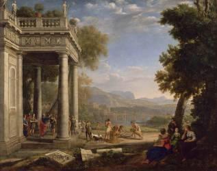 David sacré roi par Samuel (Claude Gellée) - Muzeo.com