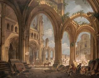 Démolition de l'église Saint-Jean-en-Grève (Pierre-Antoine Demachy) - Muzeo.com