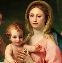 Détail de la Madone à l'Enfant avec deux Anges (Anton Raphael Mengs) - Muzeo.com