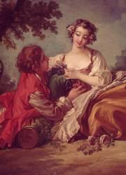 Détail de La marotte (Boucher François) - Muzeo.com