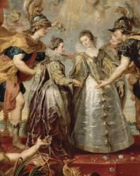 Détail de L'Echange des deux princesses de France et d'Espagne sur la Bidassoa à Hendaye, le 9 novembre 1615 (Pierre Paul Rubens) - Muzeo.com