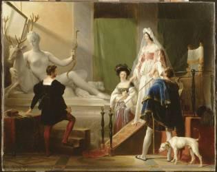 Diane de Poitiers dans l'atelier de Jean Goujon (Alexandre-Evariste Fragonard) - Muzeo.com