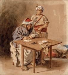 Ecrivain public marocain (Delacroix Eugène) - Muzeo.com