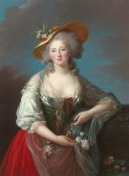 Elisabeth Philippine Marie Hélène de France, dite Madame Elisabeth (Elisabeth Vigée Le Brun) - Muzeo.com