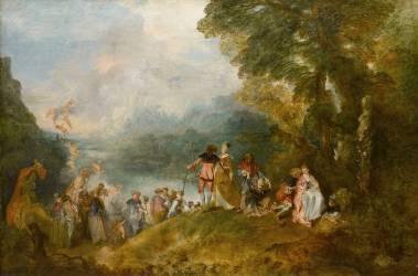 Embarquement pour Cythère (Watteau Antoine) - Muzeo.com