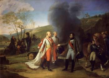 Entrevue de Napoléon Ier et de François II à Sarutschitz en Moravie (Antoine-Jean Gros) - Muzeo.com