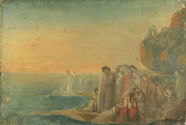 Esquisse pour les Troyennes pleurant la perte d'Anchise (Théodore Chasseriau) - Muzeo.com