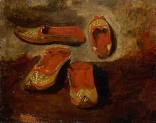 Etude de babouches (Eugène Delacroix) - Muzeo.com
