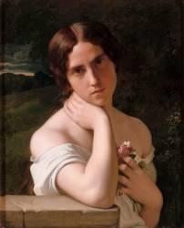 Etude de femme (Hippolyte Flandrin) - Muzeo.com
