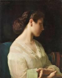 Etude de jeune fille dit la jeune grecque (Flandrin Hippolyte) - Muzeo.com