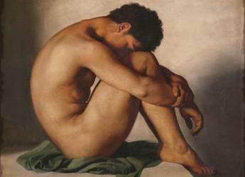 Etude de jeune homme nu (Hippolyte Flandrin) - Muzeo.com