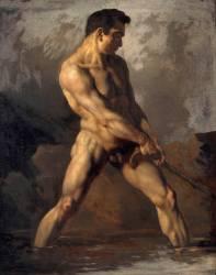 Etude d'homme nu (Théodore Géricault) - Muzeo.com