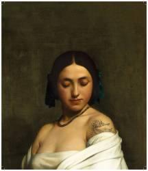 Etude florentine ou jeune fille en buste les yeux baissés (Hippolyte Flandrin) - Muzeo.com